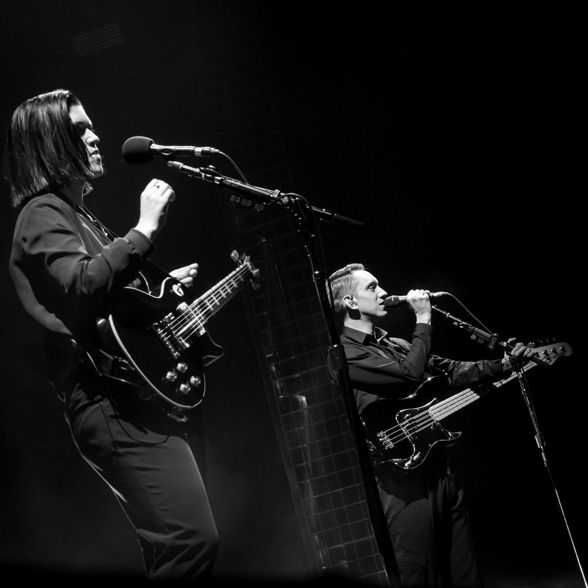 Photo du live de The XX