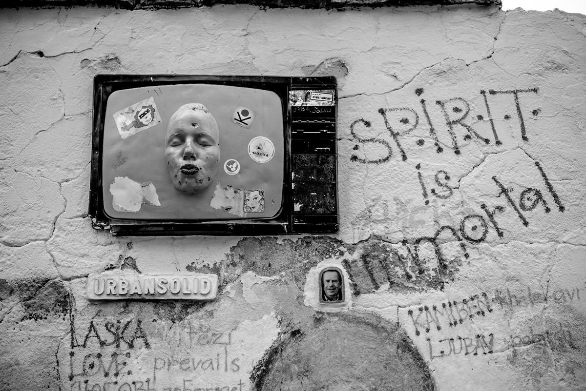 Photo figurative en noir et blanc