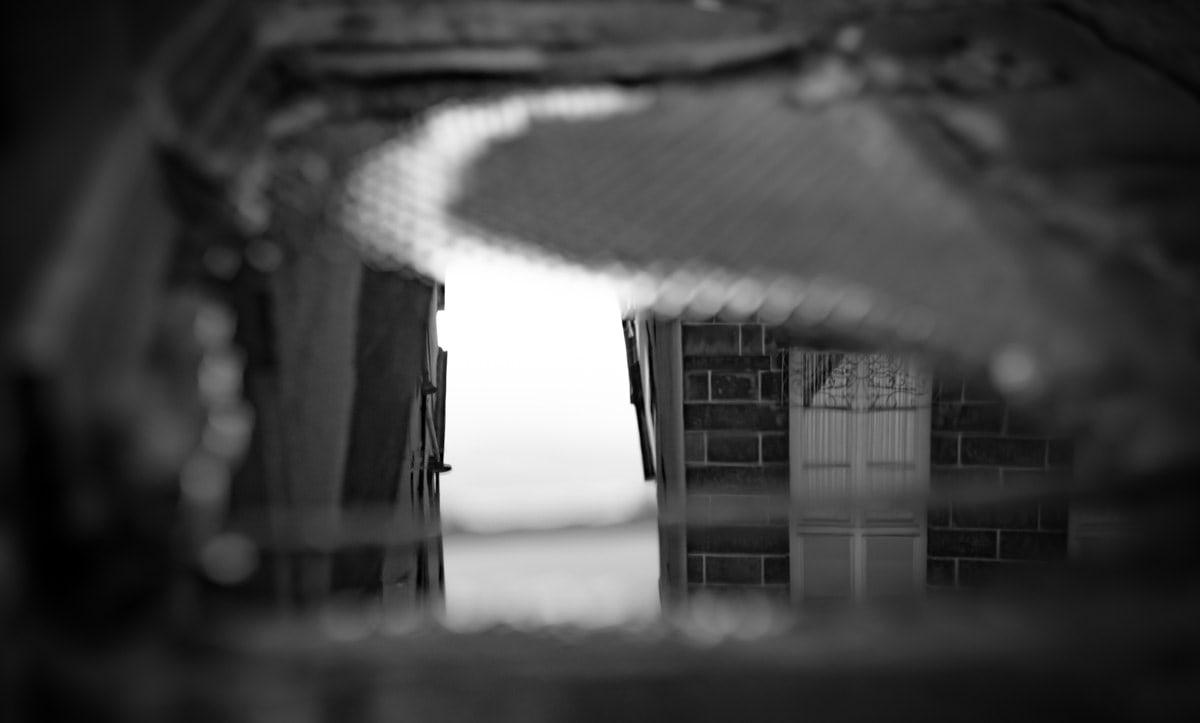 Photo d'architecture dans un reflet